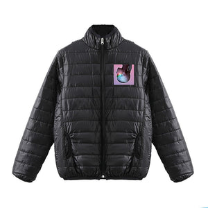 Ariana Grande 3D Pink Print Polo Neck Down Jacket