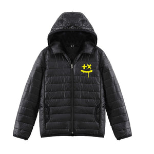 DJ Marshmello 3D Yellow Print Long Sleeve Casual Down Jacket