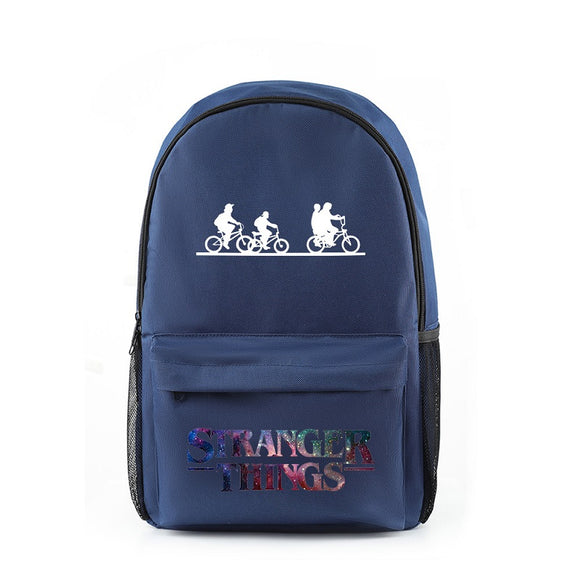 Stranger Things Red Print Backpack Student School Bag