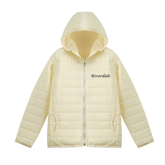 Riverdale 3D White Print Casual Long Sleeve Down Jacket
