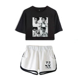 Cameron Boyce Girls Youth Crop Top Shirt and Shorts Set