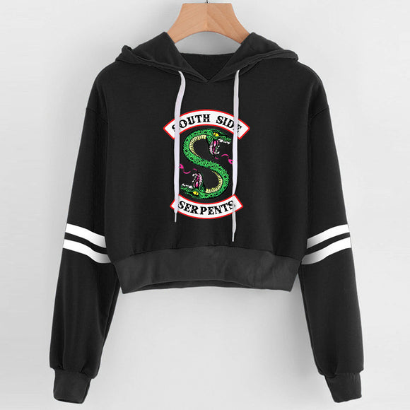 Crop Top Riverdale Southside Serpent Hoodies