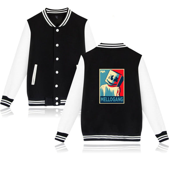 DJ Marshmello Fashion Hoodies Baseball Jacket