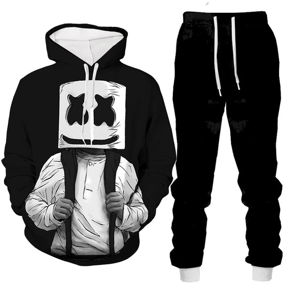 DJ Marshmello Hoodies and Sweatpants Suit