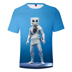 DJ Marshmello Shirts Youth Fashion 3D Print Casual T-Shirt