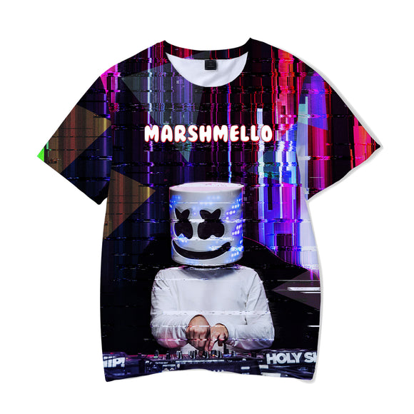 DJ Marshmello Youth Fashion Coloful Casual Shirts