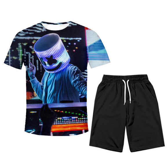 DJ Marshmello Youth Shirts and Shorts Suit