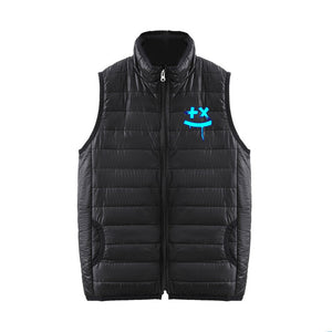 DJ Marshmello 3D Print Sleeveless Vest Down Jacket With Zipper