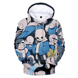 Undertale Sans Hoodie Fashion 3D Pullover Hoodie Sweatshirt For Adults