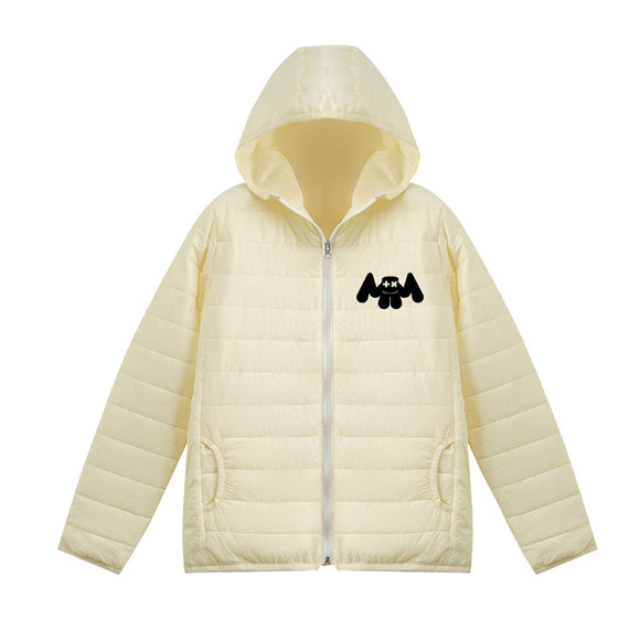 Unisex Marshmello Casual 3D Print Hooded Down Jacket