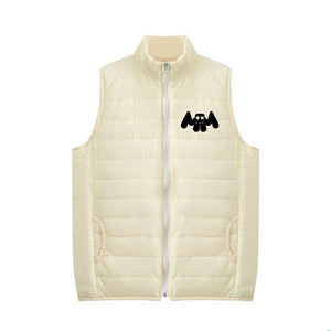 Unisex DJ Marshmello 3D Print Zipper Sleeveless Vest Down Jacket