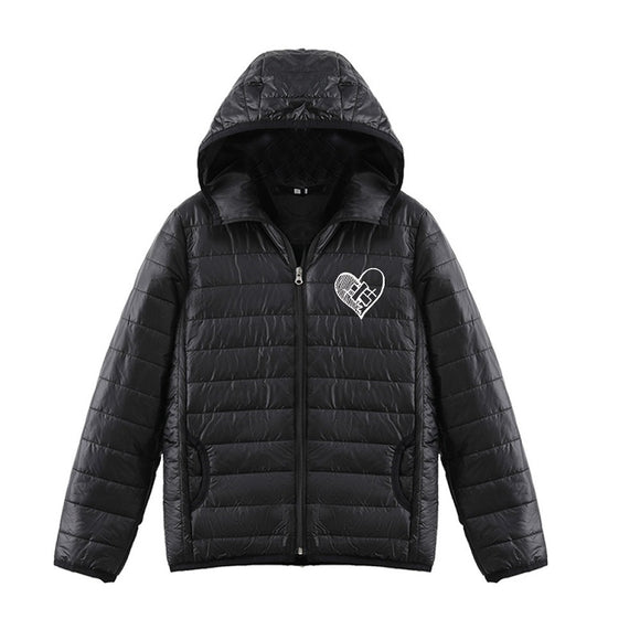 Xxxtentacion 3D Heart Print Youth Teenagers Fashion Down Jacket