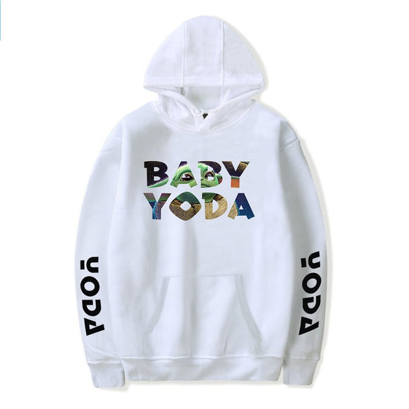 Hot Fashion The Mandalorian Baby Yoda Long Sleeves Hoodie