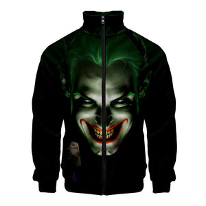 Hot Popular Joker Movie 2019 3D Print Jacket With Zipper