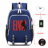 Elvis Presley Printed Backpack With USB Charge Port