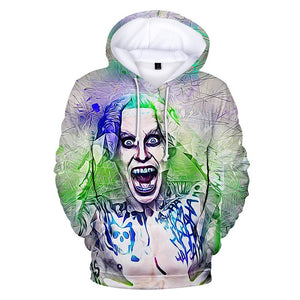 Hot Fashion Harajuku Suicide Squad Joker Pull Over Drawstring Hoodie