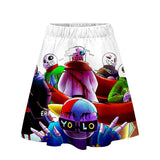 Undertale Girls Women 3D Print Skirt and Crop Top Set