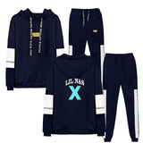 Lil Nas X 3D Print Pull Over Unisex Hoodies & Fashion Pants Two Piece Set