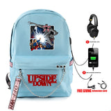 Stranger Things Usb Eleven Print Backpack Student School Bag