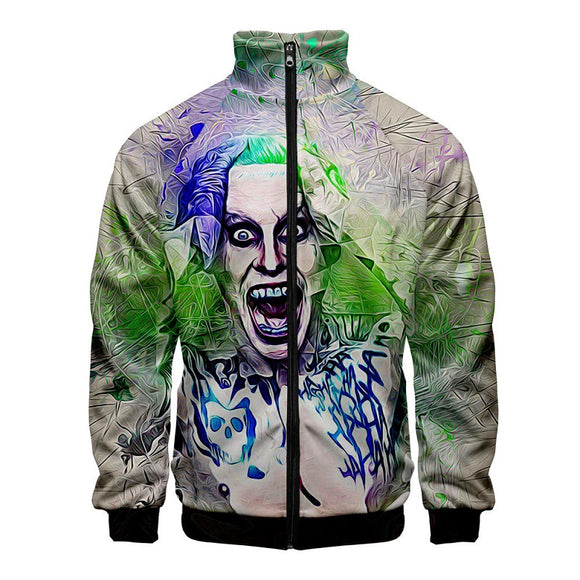 Hot Fashion Harajuku Suicide Squad Joker Jacket For Boys And Girls