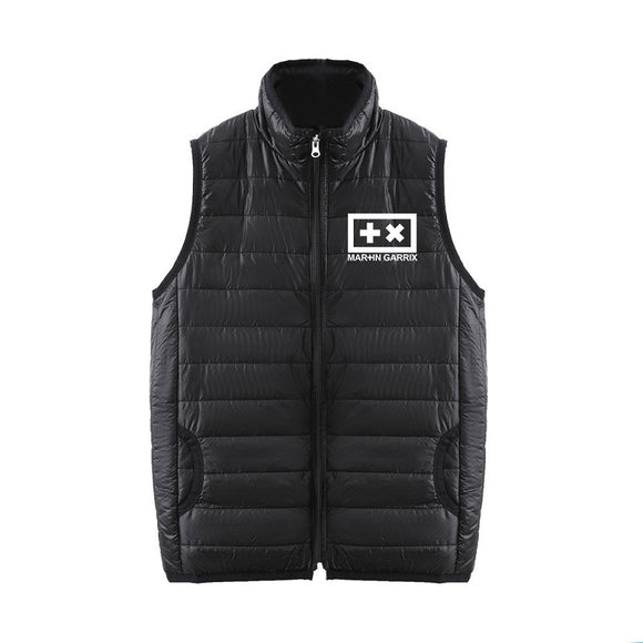 Fashion DJ Marshmello 3D Print Sleeveless Vest Down Jacket