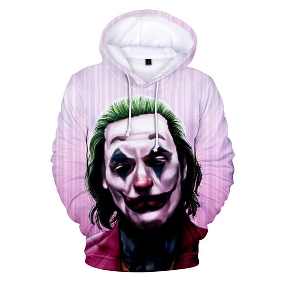 Joker Movie 2019 3D Print Long Sleeve Sweatshirt Hoodie