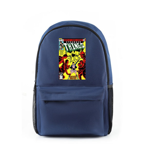 Stranger Things Zipper Pocket Backpack Book Bag