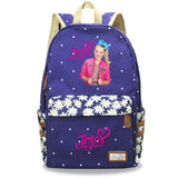 Jojo Siwa Printed Canvas Backpack Youth School bag Bookbags