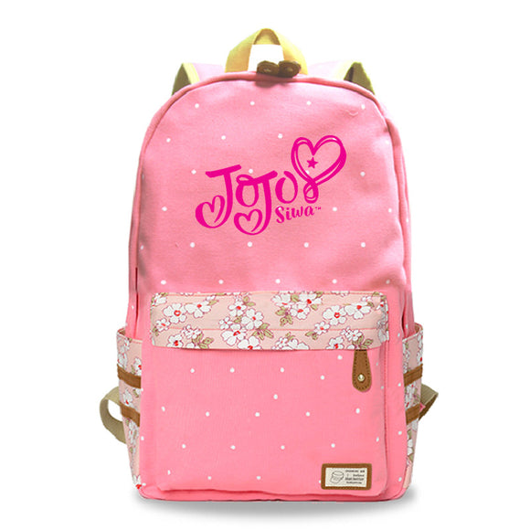 Jojo Siwa Canvas Backpack Youth School bag Bookbags