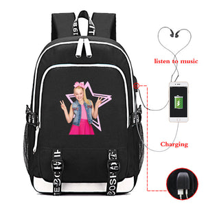 Girls Jojo Siwa Youth School Backpack Bookbags Travel Backpack With Charging Port