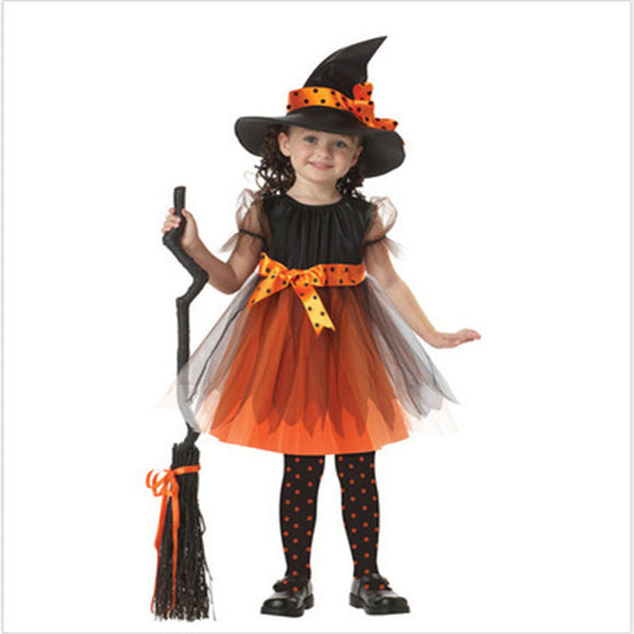 Halloween Kids Costume Witch Play Costume For Girls