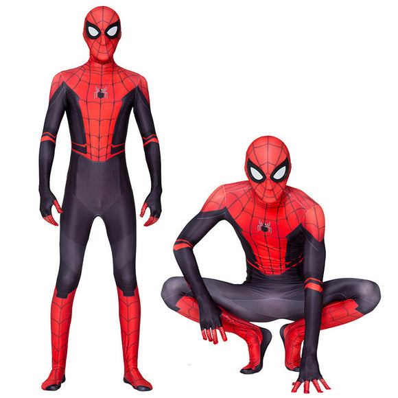 Halloween Kids Costume  Spiderman Far From Home Catsuits Play Costumes For Kids&Adult