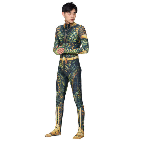 Halloween Kids Costume Aquaman Catsuits Play Costumes  For Kids&Adult