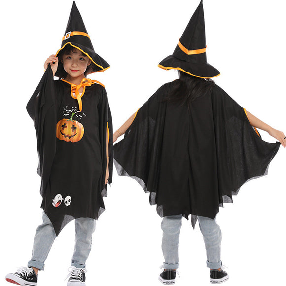 Halloween Kids Costume Witch Play Pumpkin Costume