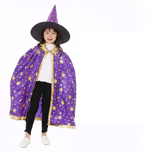 Halloween Kids Costume Witch Play Magician Costume