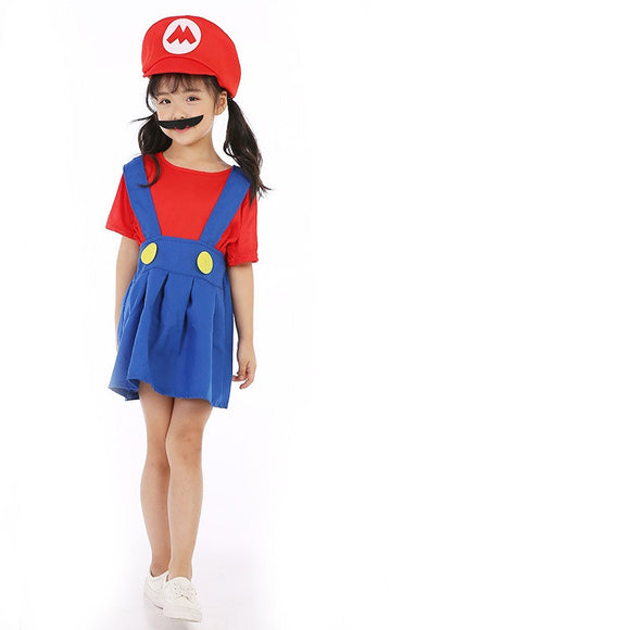 Halloween Kids Costumes Supper Mario CosPlay  Costumes