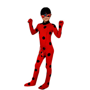 Halloween Kids Costumes Miraculous Ladybug Catsuits Play Costumes
