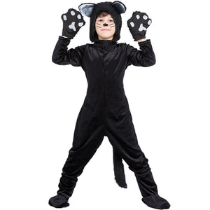 Halloween Kids Costume Black Cat Cosplay Costumes
