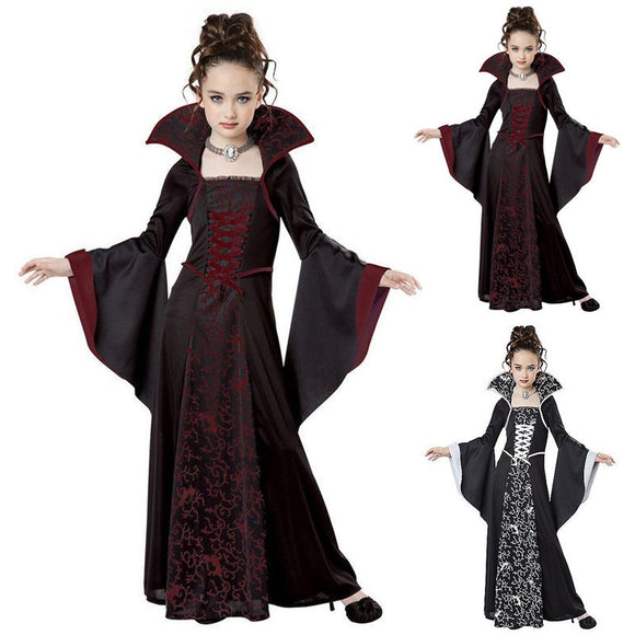 Halloween Kids Costume Witch Cos Dress For Girls