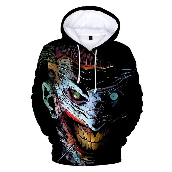 DC Comics Joker 3D Print Long Sleeve Hooded Hoodie