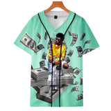 Lil Nas X Round neck T-shirt 3D Color Print Cardigan With Button