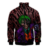 Haha Joker Crazy 3D Print Zipper Jacket