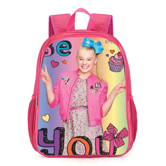 Jojo Siwa Print Colorful Kids Backpack School Bag
