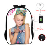 Jojo Siwa Print Kids Youth Backpack School Bag With Charging Port