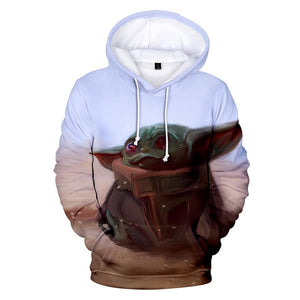 Star Wars The Mandalorian Season 1 Baby Yoda 3d Print Pull Over Hoodie For Adults