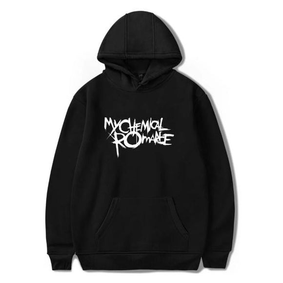 My Chemical Romance Letter Printed Long Sleeve Casual Hoodie Sweatshirt