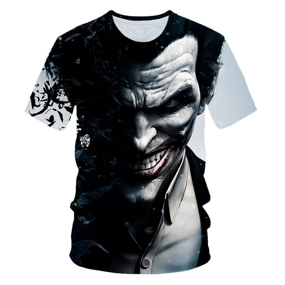 Hot Fashion Cool Joker 3D Print Short Sleeve Shirt