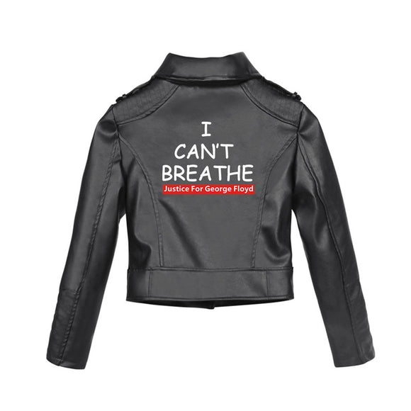 I Can't Breathe George Floyd Justice Black Leather Jacket for Women