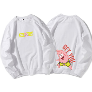 Sponge Bob Pull Over Hoodies Plus Size