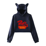 Riverdale Pops Chocklit Shoppe Crop Top Hoodies Cat Ear Girls Hoodies Sweatshirt